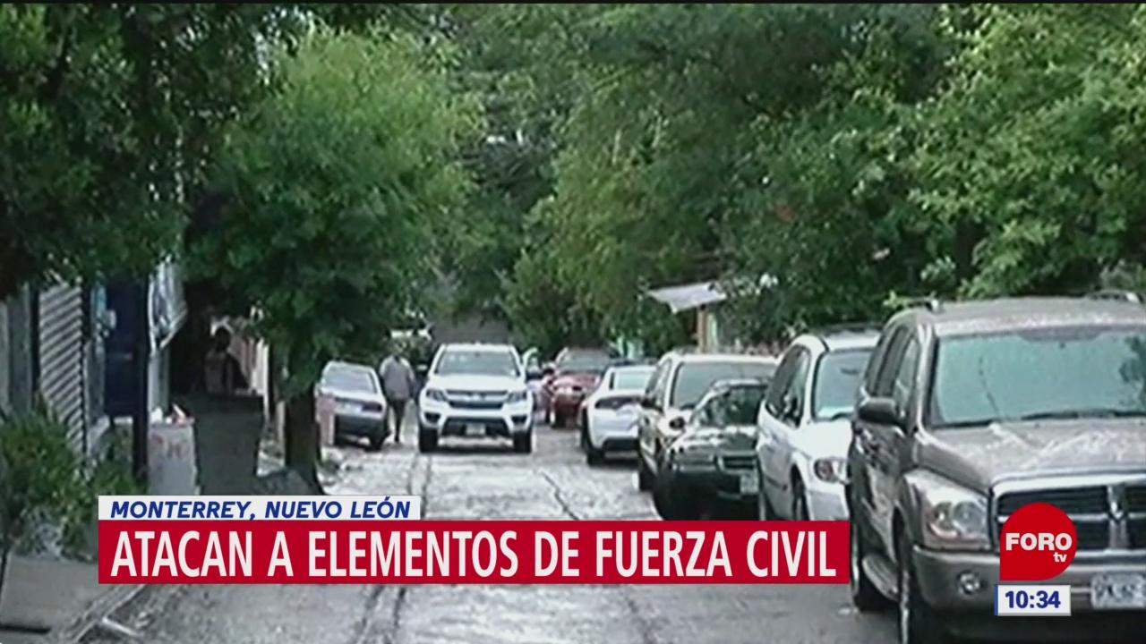 Atacan a elementos de Fuerza Civil en Monterrey