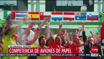 FOTO: Austria realiza campamento mundial de aviones de papel, 19 MAYO 2019