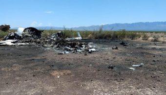 Foto: avión accidentado en Coahuila, 6 de mayo 2019. EFE