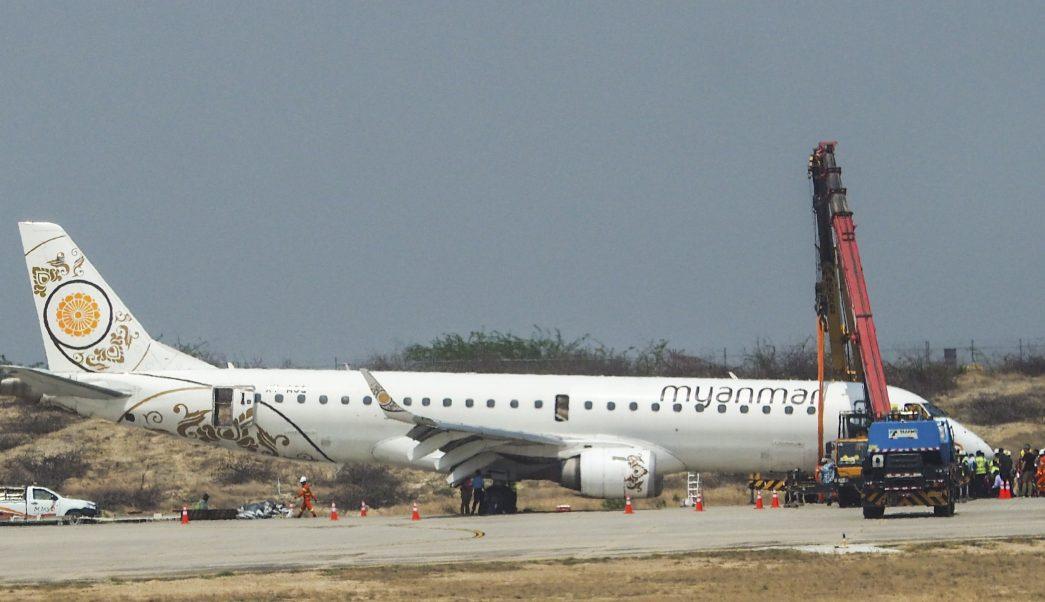 Foto: Un avión de la compañía Myanmar Airways realizó un aterrizaje de emergencia en el aeropuerto de Mandalay, 12 mayo 2019