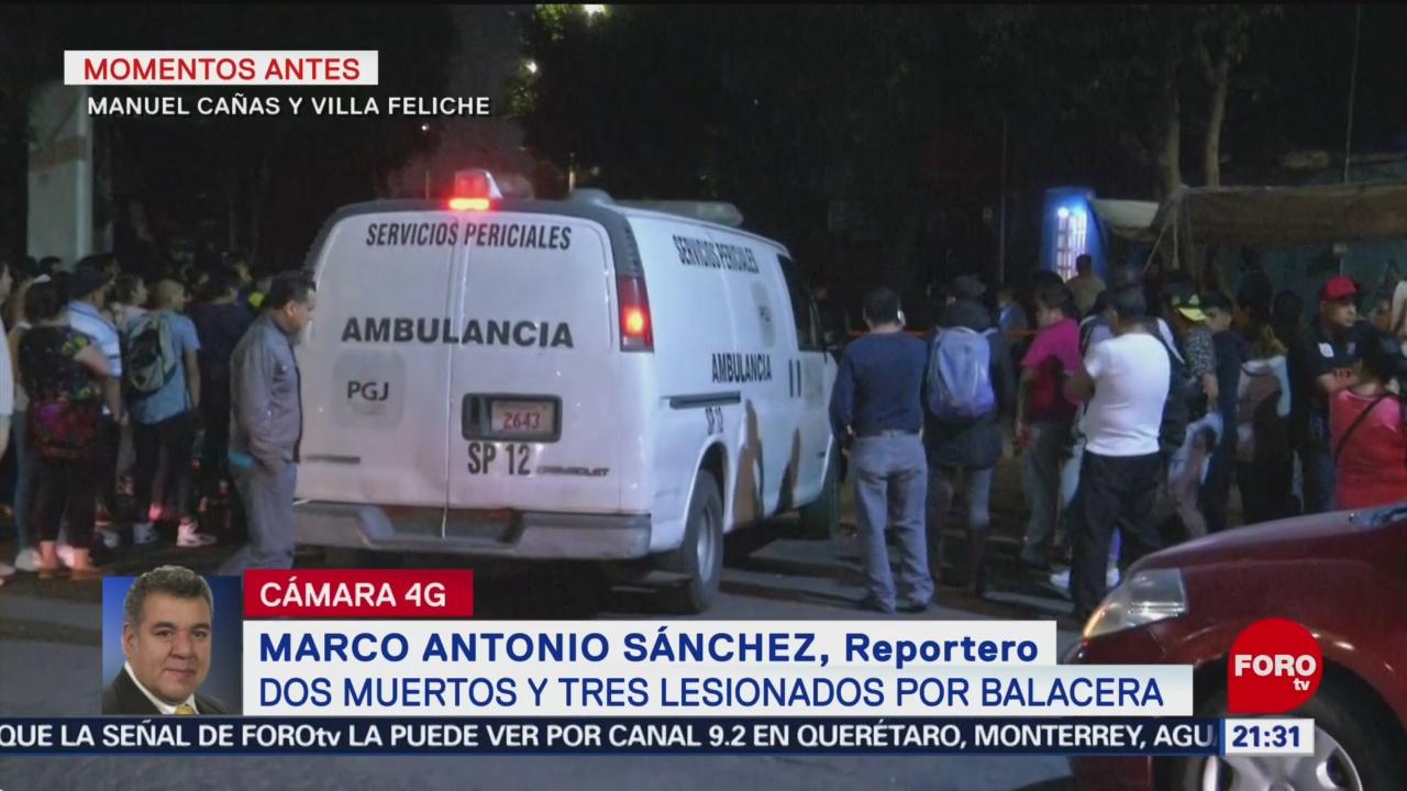 FOTO: Balacera deja dos muertos en Manuel Cañas, alcaldía Iztapalapa, 18 MAYO 2019