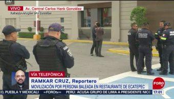 FOTO: Balacera en restaurante en Ecatepec deja un muerto, 5MAYO 2019