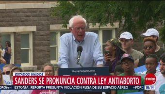 FOTO: Bernie Sanders se pronuncia contra ley antiaborto