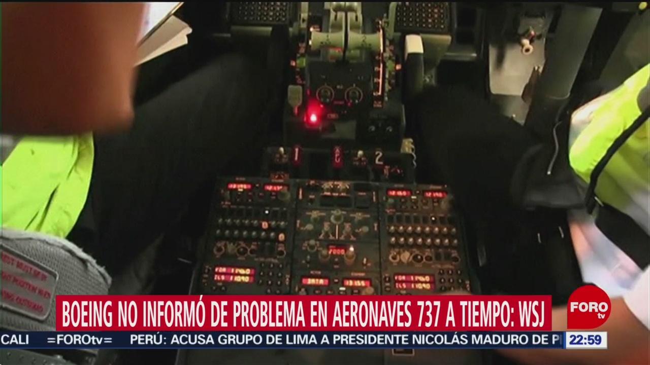 FOTO: Boeing no informó de problema en aeronaves 737 a tiempo: WSJ, 5 MAYO 2019