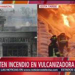 FOTO: Bomberos controlan incendio en vulcanizadora