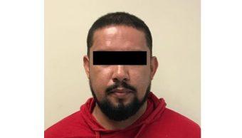 """Foto: Jesús Arellano """"El Cabrito"""", exjugador del Monterrey, tras su detención, mayo 4 de 2019 (Twitter: @cesarmty)"""