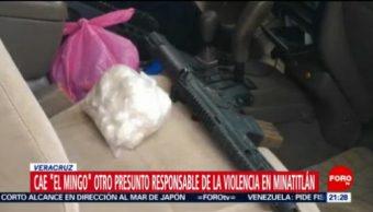 """FOTO: Cae """"El Mingo"""" otro presunto responsable de la matanza en Minatitlán, 5 MAYO 2019"""