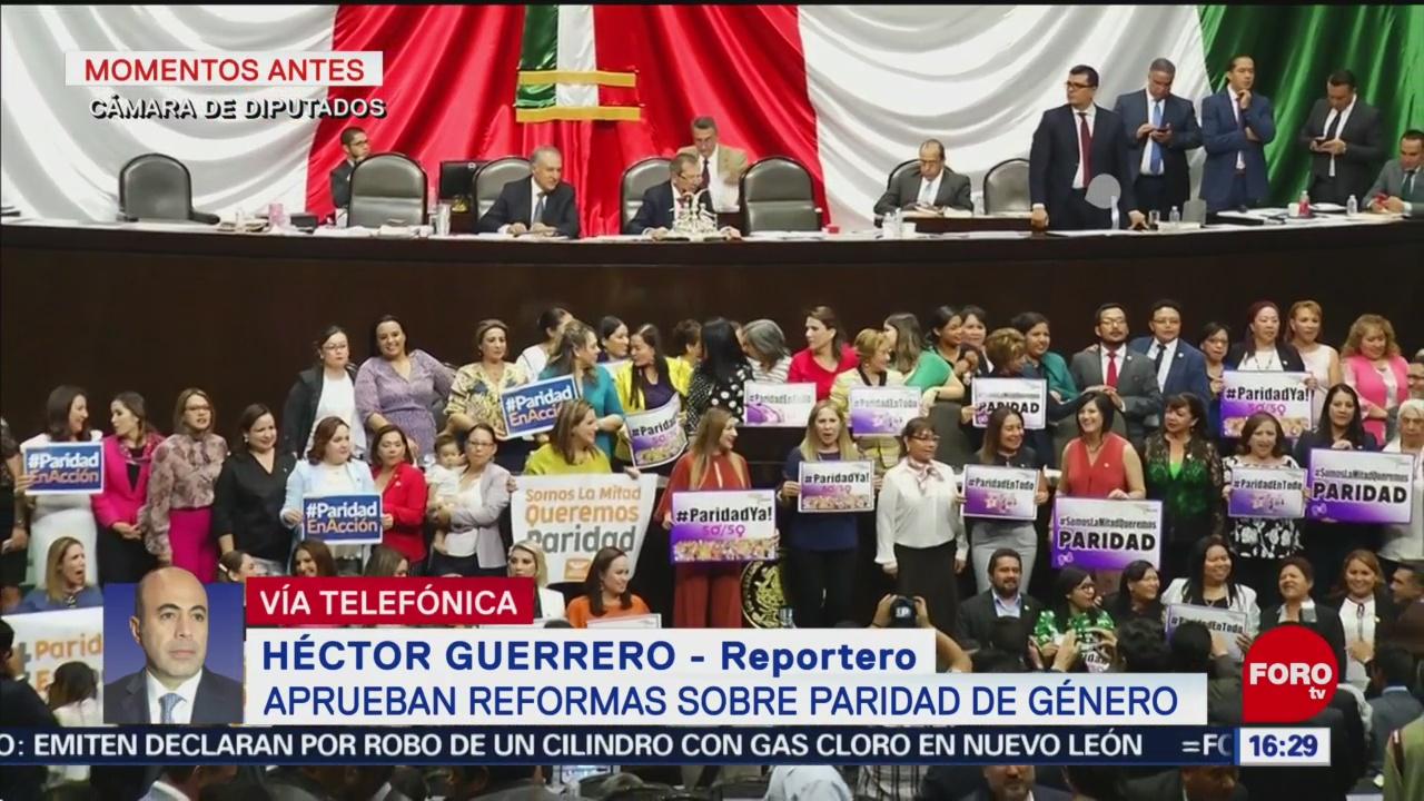 FOTO. Cámara de Diputados aprueba reformas de paridad de género