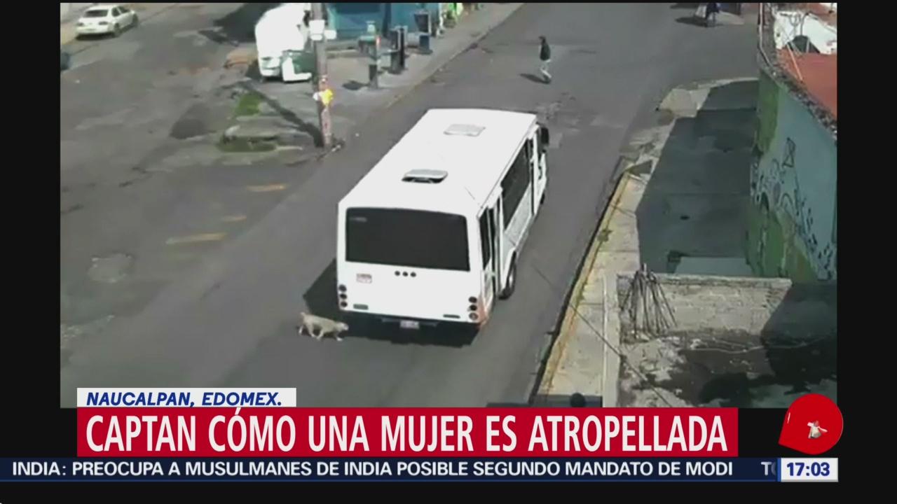 FOTO: Captan cómo una mujer es atropellada en Naucalpan, Edomex., 18 MAYO 2019