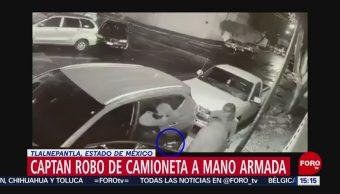 Captan momento de robo de una camioneta en Tlalnepantla, Edomex