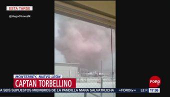 Foto: Captan torbellino en Monterrey, Nuevo León