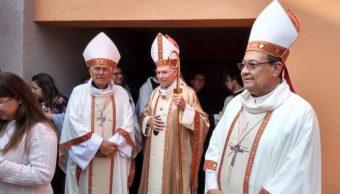 Foto: El Arzobispo Primado de México, cardenal Carlos Aguiar (centro) encabeza celebraciones por la nueva beata mexicana Concepción Cabrera, el 5 de mayo de 2019 (Desde la Fe)