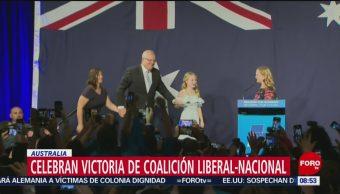 FOTO: Celebran victoria de coalición liberal-nacional en Australia, 19 MAYO 2019