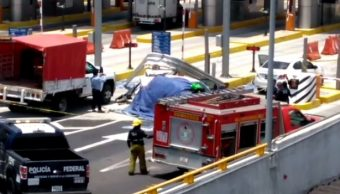 Foto: Choque en la autopista México-Toluca, 6 de mayo 2019. Twitter @MXQNoticias
