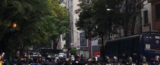 Foto: Elementos de la Secretaría de Seguridad Ciudadana fueron desplegados para apoyar en el desalojo, 30 mayo 2019