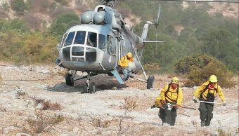 Foto: combate de incendios forestales en SLP, 15 DE MAYO 2019. Twitter @ProtCivilSLP