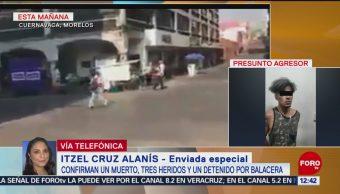 Comerciantes de Cuernavaca reanudan sus actividades tras balacera