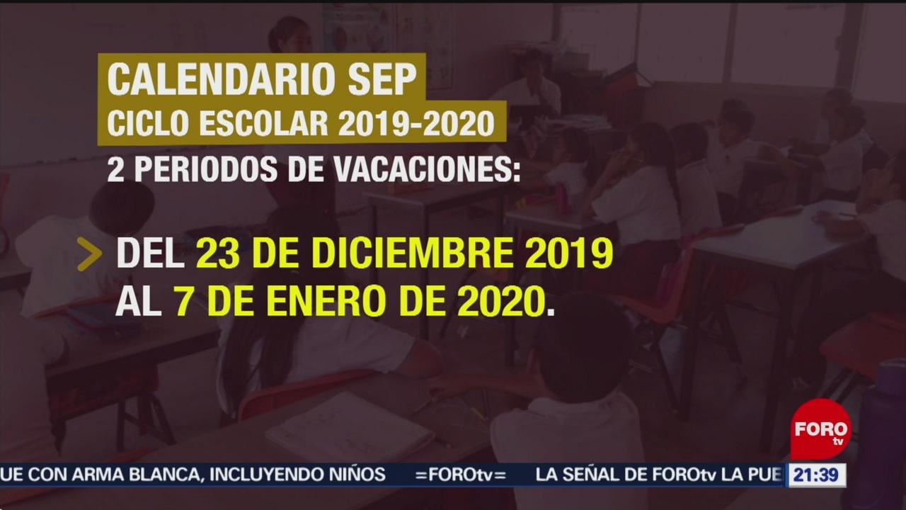 Calendario Escolar 2020 Sep Cdmx.Conoce El Calendario Escolar De La Sep Del Ciclo 2019 2020