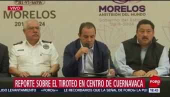 FOTO: Cuauhtémoc Blanco anuncia reforzamiento de seguridad tras balacera en Cuernavaca