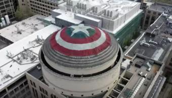 Foto Cubren la cúpula del MIT con escudo del Capitán América 1 mayo 2019
