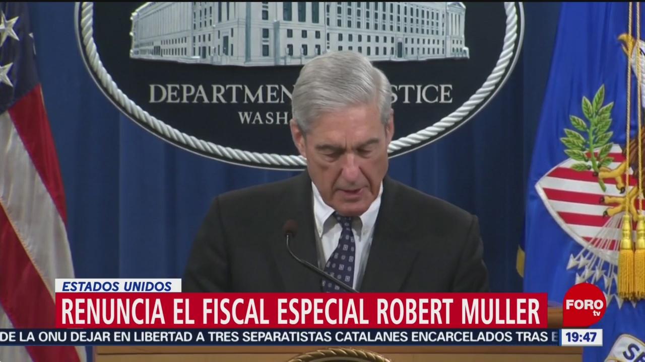 Foto: Declaraciones Mueller Presidencia Trump Trama Rusa 29 Mayo 2019