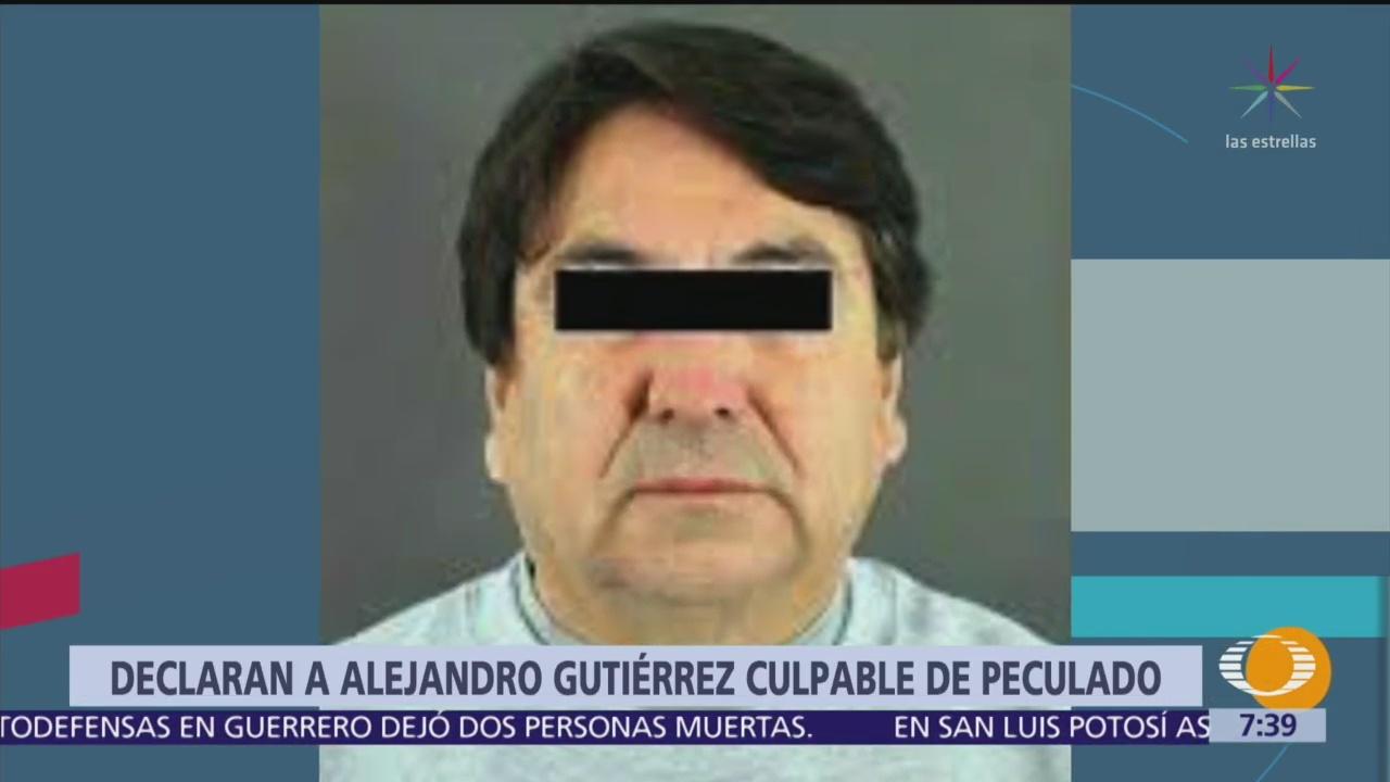 Declaran culpable de peculado a Alejandro Gutiérrez, exfuncionario del PRI