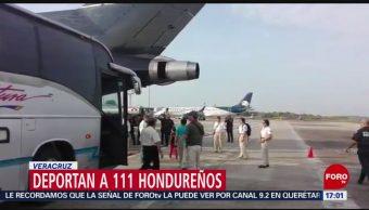 FOTO: Deportan a 111 hondureños en Veracruz, 18 MAYO 2019