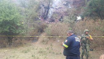 Foto: desplome de aeronave en Atizapán, 3 de mayo 2019. Gobierno del Edome