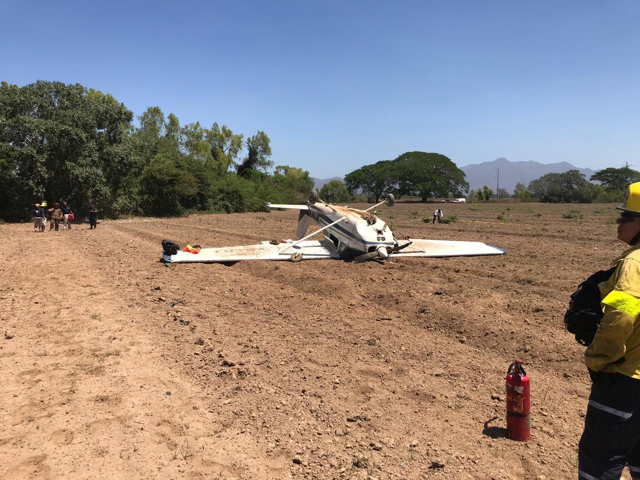 Foto: desplome de aeronave en Puerto Vallarta, Jalisco. 14 de mayo 2019. (Noticieros Televisa)