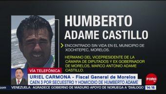 Foto: Detienen Asesinos Humberto Adame Hermano Exgobernador 17 Mayo 2019