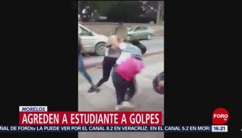 FOTO: Difunden video de agresión a golpes a estudiante en Morelos, 18 MAYO 2019