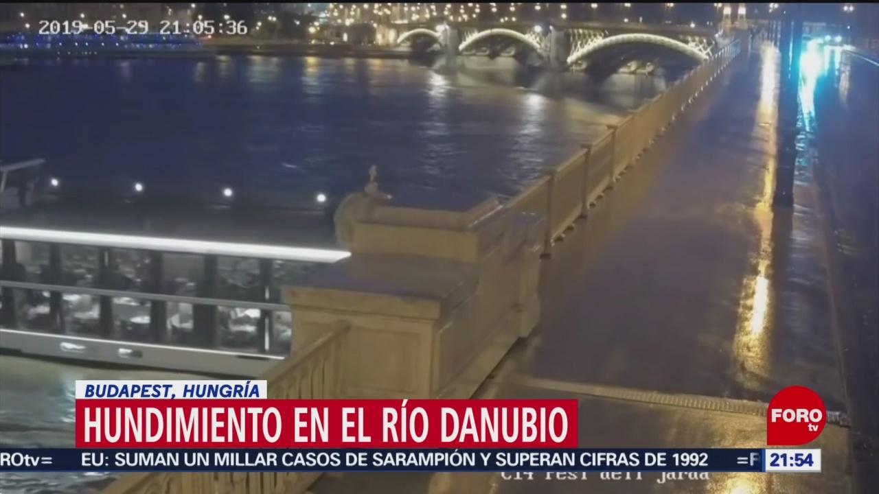 Foto: Video Naufragio Embarcación Río Danubio 30 Mayo 2019