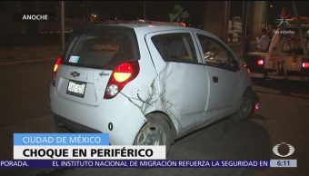 Dos accidentes automovilísticos en CDMX deja heridos leves