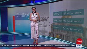 Foto: El Clima 'A las Tres' con Daniela Álvarez del 13 de mayo de 2019