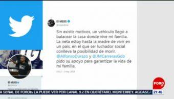 """FOTO: """"El Mijis"""" denuncia atentado contra su familia, 5 MAYO 2019"""