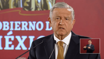 Foto: El presidente López Obrador en conferencia de prensa, 16 de mayo de 2019, Ciudad de México