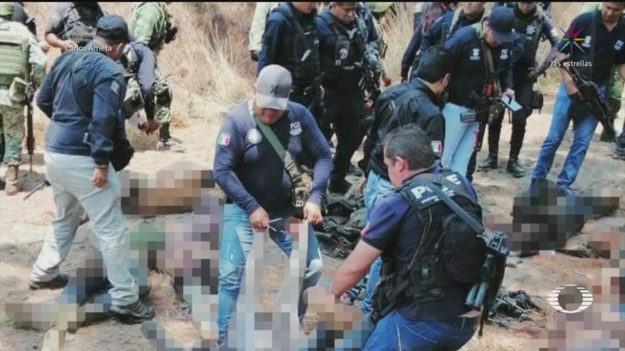 Foto: Enfrentamiento Uruapan Michoacán Muertos 22 Mayo 2019