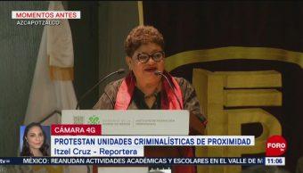 Ernestina Godoy toma protesta a Unidades Criminalísticas de Proximidad en la CDMX
