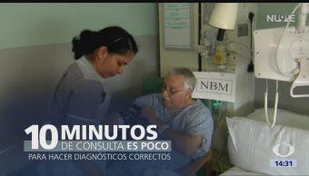 Foto: Es poco el tiempo de consulta con el médico