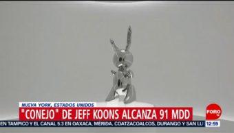 Escultura 'Conejo' de Jeff Koons se vende por 91 mdd