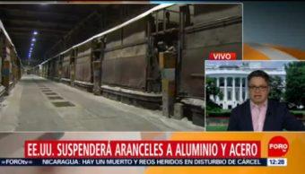 Estados Unidos acuerda retirar aranceles al acero y aluminio