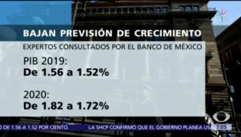 Expertos consultados por Banxico rebajan expectativas de crecimiento económico
