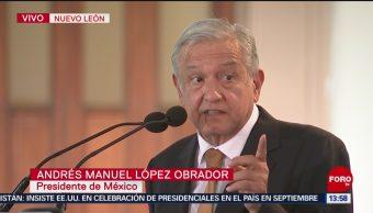 Foto: Firma AMLO en Nuevo León convenio de movilidad metropolitana