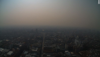 FOTO Gobierno AMLO, contaminación e incendios forestales, análisis en Despierta (@webcamsdemexico 16 mayo 2019)