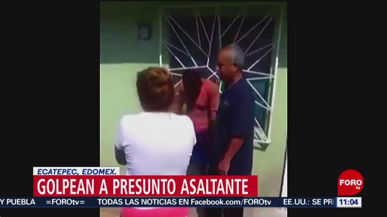 Golpean a presunto asaltante en Ecatepec, Edomex