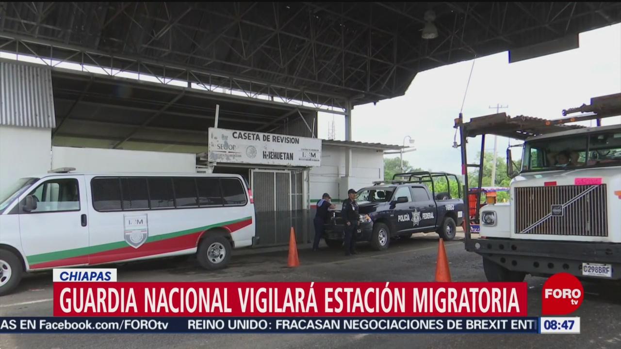FOTO: Guardia Nacional vigilará la estación migratoria en Chiapas, 19 MAYO 2019