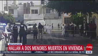 FOTO: Hallan a dos menores muertos en vivienda en Michoacán, 5 MAYO 2019