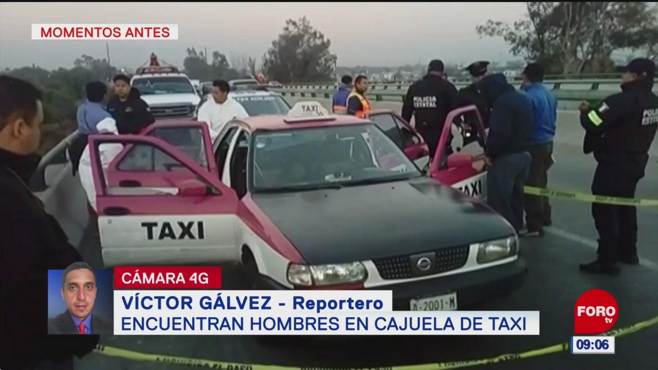 Hallan dos cuerpos en un taxi, en la Gustavo A. Madero