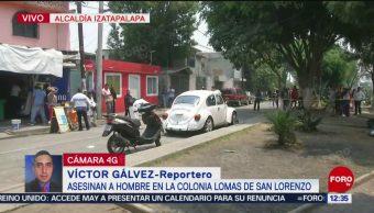 Hombres en motocicleta ejecutan a joven en Iztapalapa, CDMX
