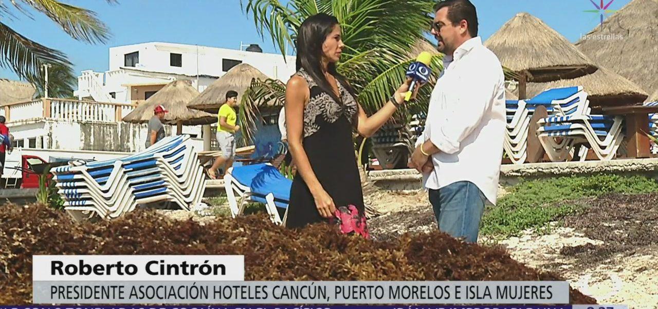 Hoteleros retiran sargazo en playas ante la mínima intervención del Gobierno estatal